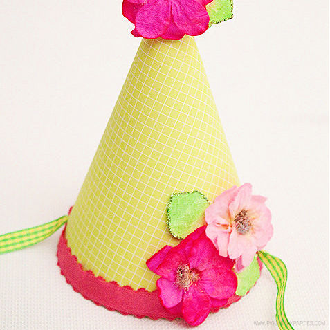 Party Hat Template by Piggy Bank Parties