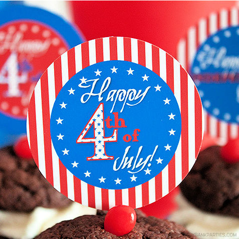 Patriotic Flair 4th of July by Piggy Bank Parties