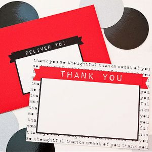 Sentimental Type Thank You Note Set by Piggy Bank Parties