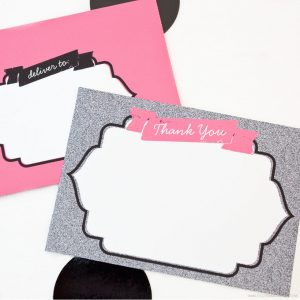 Shabby Chic Thank You Note Set by Piggy Bank Parties