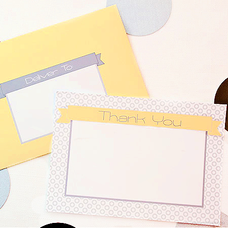 Simply Modern Thank You Note Set by Piggy Bank Parties