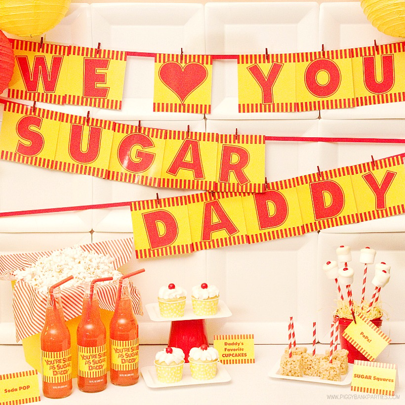 Sugar Daddy Inspired Collection by Piggy Bank Parties