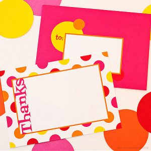 Swanky Dots Thank You Note Set by Piggy Bank Parties