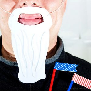 Uncle Sam Beard by Piggy Bank Parties