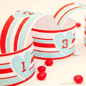 Valentine's Day Aqua Countdown by Piggy Bank Parties