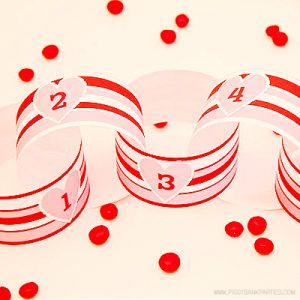 Valentine's Day Pink Countdown by Piggy Bank Parties