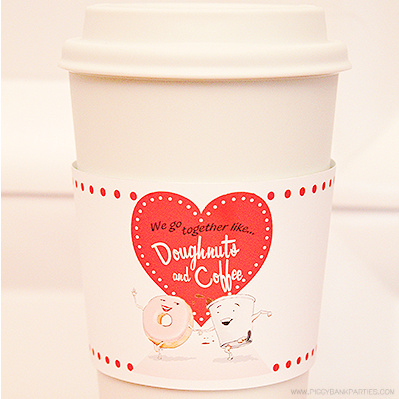 Vintage Valentines Coffee Sleeve by Piggy Bank Parties