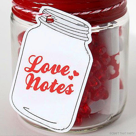 LOVELY MASON JAR TAGS