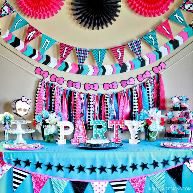 MONSTER HIGH BIRTHDAY PARTY - ELLERY DESIGNS