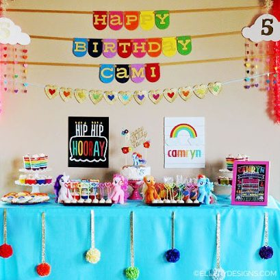 RAINBOW DASH MY LITTLE PONY BIRTHDAY PARTY - ELLERY DESIGNS