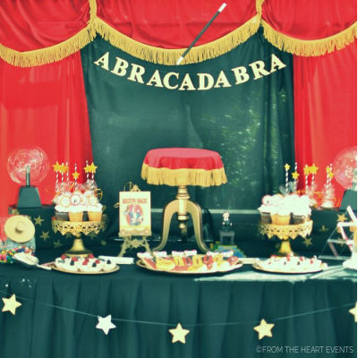 VINTAGE MAGICIAN BIRTHDAY PARTY