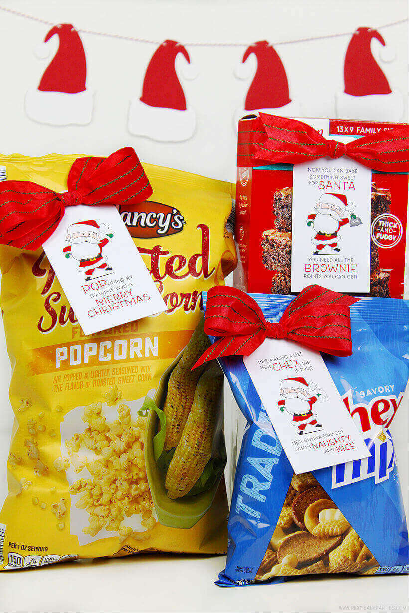 Easy Neighbor Gifts Under 5 Dollars with Free Festive Gift Tags